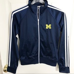 Adidas University of Michigan Zip Up Track Jacket